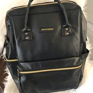 Ash & Parker Vegan Leather Diaper Bag